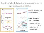 zenith angle distributions atmospheric s