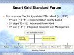 smart grid standard forum