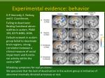 experimental evidence behavior1