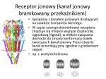 receptor jonowy kana jonowy bramkowany przeka nikiem