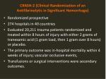 crash 2 clinical randomization of an antifibrinolytic in significant hemorrhage