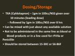 dosing storage