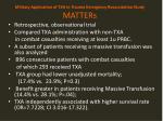 military application of txa in trauma emergency resuscitation study matters