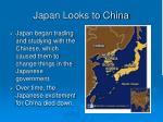 japan looks to china