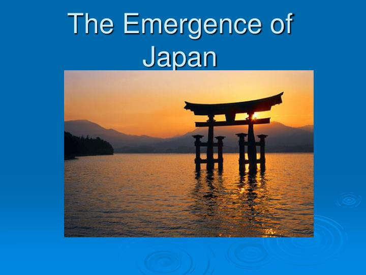 the emergence of japan n.
