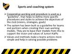 sports and coaching system