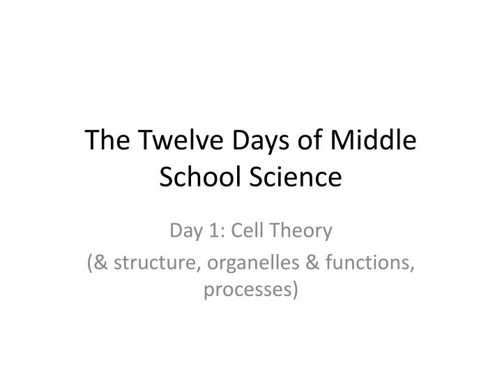 the twelve days of middle school science n.