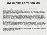 civilian warning pre nagasaki