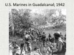 u s marines in guadalcanal 1942