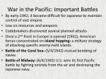 war in the pacific important battles