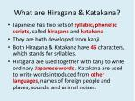 what are hiragana katakana