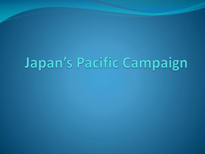japan s pacific campaign n.