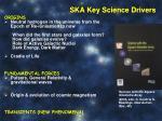 ska key science drivers