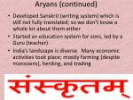 aryans continued