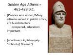 golden age athens 461 429 b c