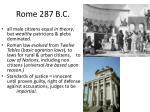 rome 287 b c