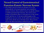 neural control of gastrointestinal function enteric nervous system3