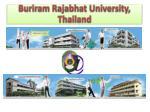 buriram rajabhat university thailand1