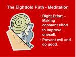 the eightfold path meditation