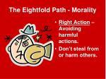 the eightfold path morality1