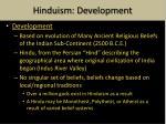 hinduism development