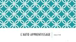 l auto apprentissage