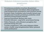 dokumen dokumen masukan dalam siklus pengeluaran