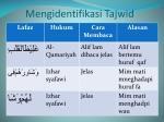 mengidentifikasi tajwid1