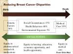 reducing breast cancer disparities