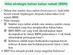 nilai strategis bahan bakar nabati bbn