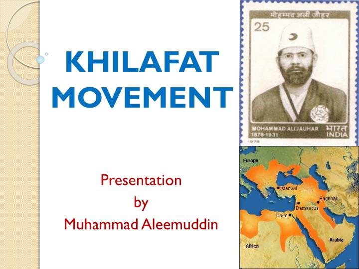 khilafat movement n.