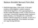 balaton felvid ki nemzeti park llat vil ga