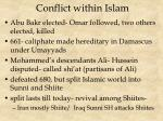 conflict within islam