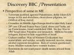 discovery bbc presentation