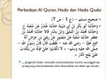 perbedaan al quran hadis dan hadis qudsi1