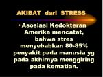 akibat dari stress1