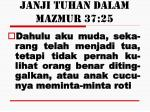 janji tuhan dalam mazmur 37 25