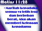 matius 11 28