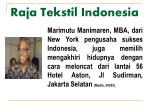 raja tekstil indonesia