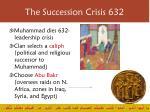 the succession crisis 632