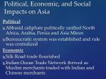 political economic and social impacts on asia