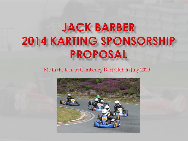 jack barber 2014 karting sponsorship proposal n.