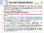 nlp chief trainers profile