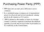 purchasing power parity ppp1