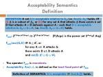 acceptability semantics definition