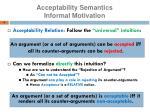 acceptability semantics informal motivation
