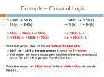 example classical logic