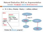 natural deduction ra as argumentation example acc genuine ra derivation for1