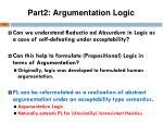 part2 argumentation logic