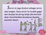 servis gaya tenis